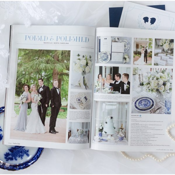 Featured in Southern Bride | North Carolina Wedding Photographer | Jackson Signature Photography