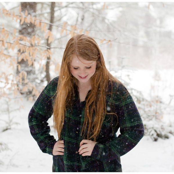 Sydney | Winter Wonderland Senior Portraits | Laurel Highlands Photographer