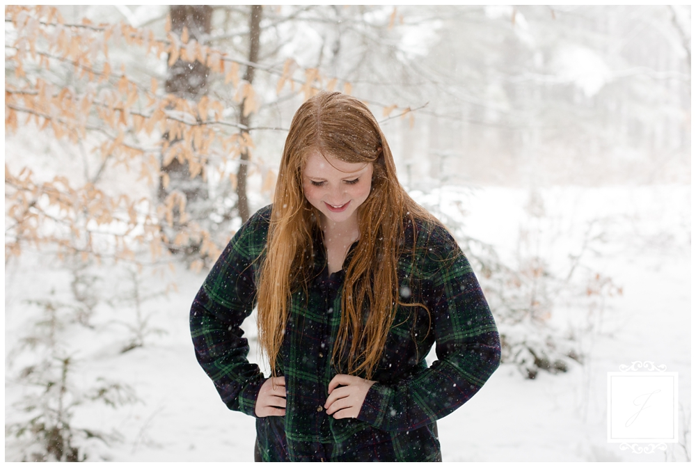 Sydney's Winter Wonderland Senior Portraits