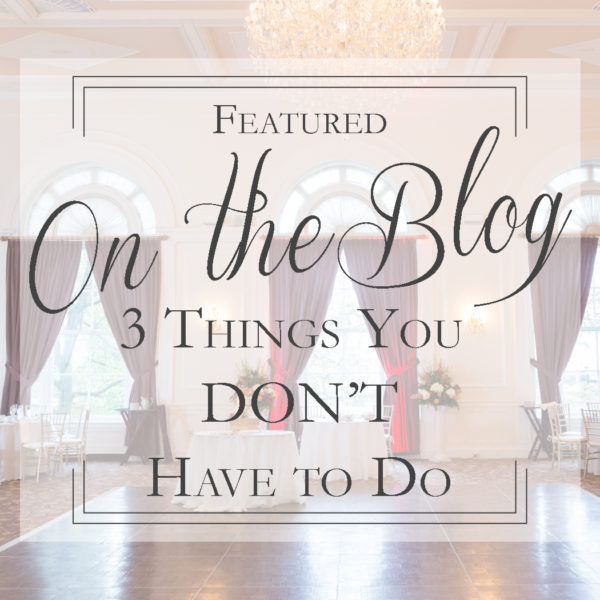 2 Things You Don't Have to do at Your Reception | Reception Wedding Tips | Pittsburgh Wedding Photographer