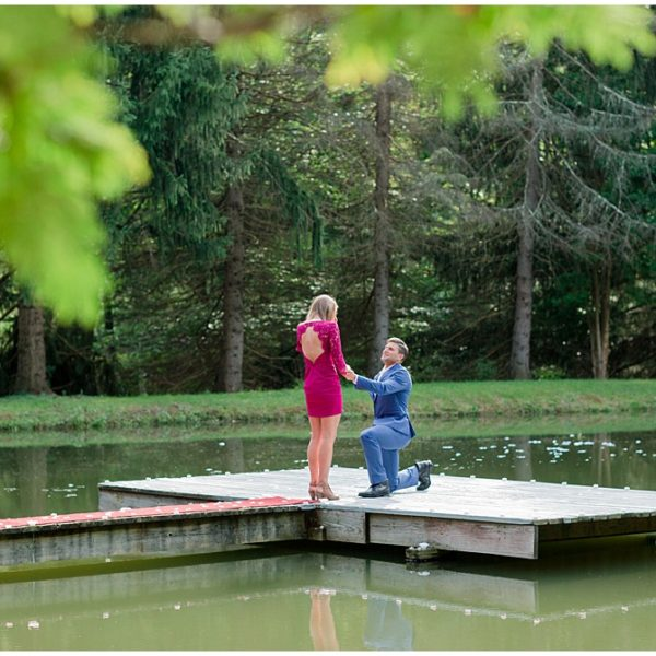 Stephen & Betsy's Lakeside Proposal | Greensburg Engagement Photographer