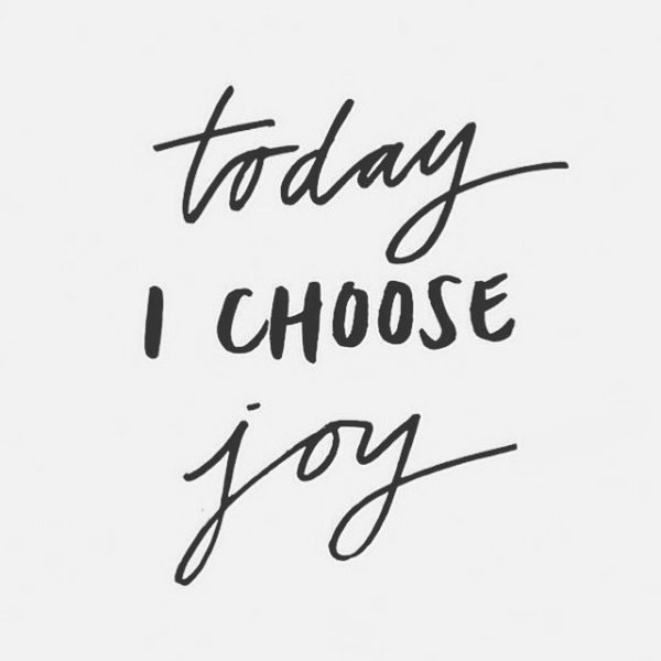 Choose Joy | Weekend Wrap Up