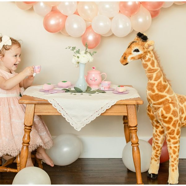 Caroline's 2nd Birthday Giraffe Tea Party | Greenesburg Portrait Photographer